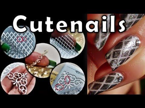 Diy Nail Art Using Peel Off Scrapbooking Stickers Youtube