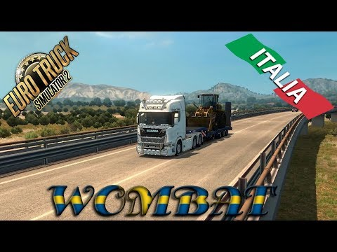 ETS2 - Scania R730 hauling in Italy from Bari to Catania