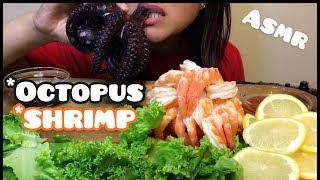 ASMR OCTOPUS + SHRIMP (Eating Sounds) No Talking
