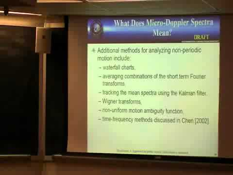 "John Gray (Naval Surface Warfare Center) - ""The Generalized Doppler Effect in Radar with..."""