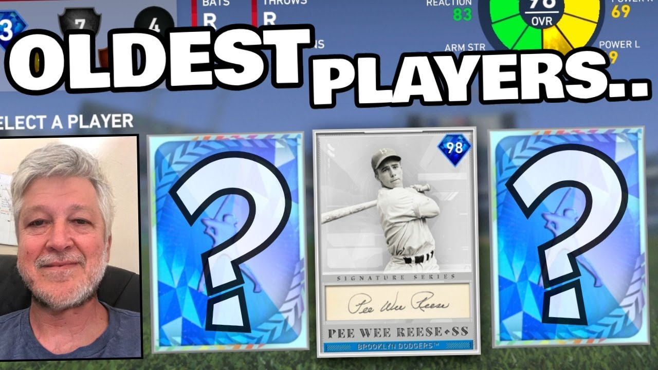 drafting the OLDEST PLAYERS in mlb the show... (wow)