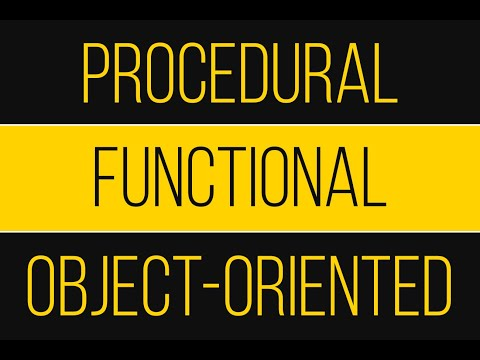 Functional, Procedural & Object-oriented Programming - An Overview
