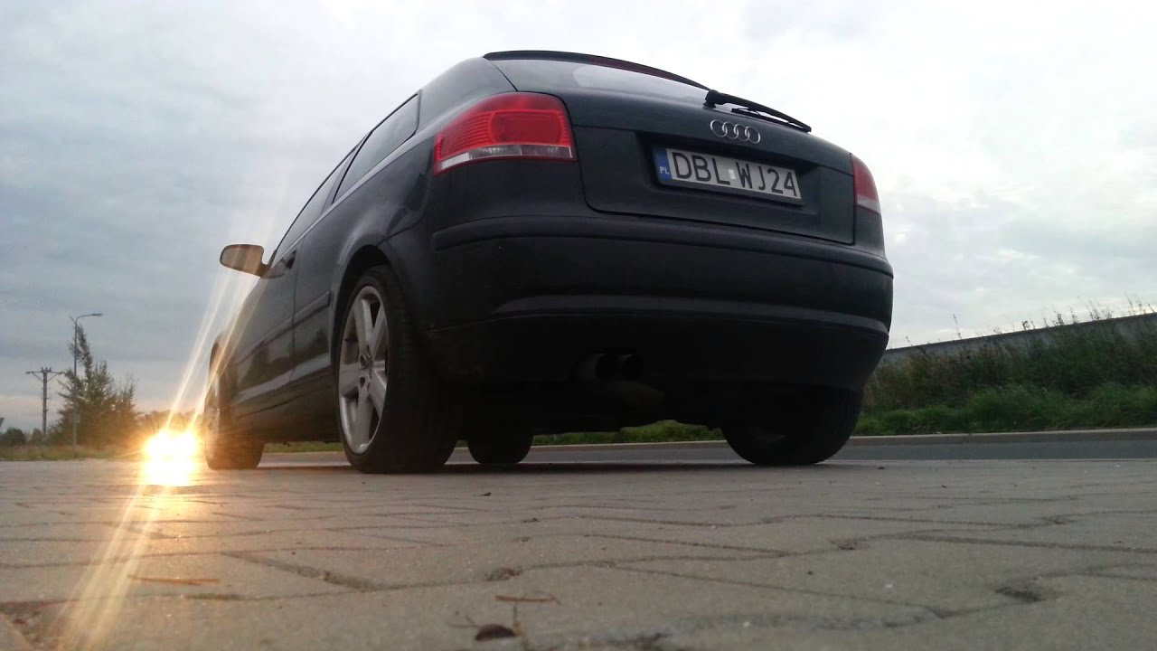 audi a3 3 2 v6 quattro exhaust sound youtube. Black Bedroom Furniture Sets. Home Design Ideas