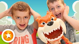Новый детский челлендж Собака Кусака. Обзор на настольную игру Осторожно злая собака!