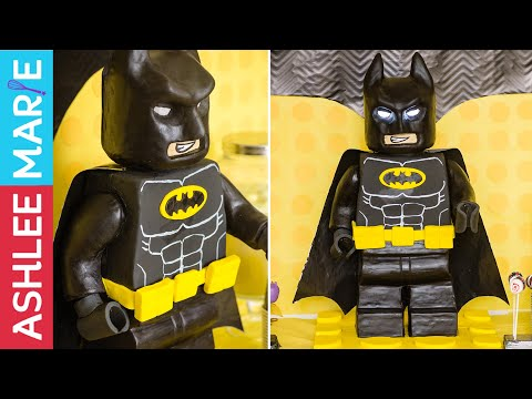 How to Make A Standing Lego Batman Cake