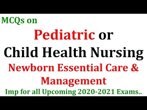 MCQs on Child Health Nursing || Paediatrics||  2020-2021 Exams || BNS-042-Block-4th unit 1 & 2nd MCQ