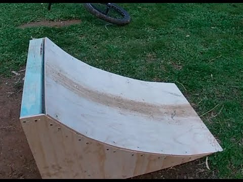 New wooden BMX jump