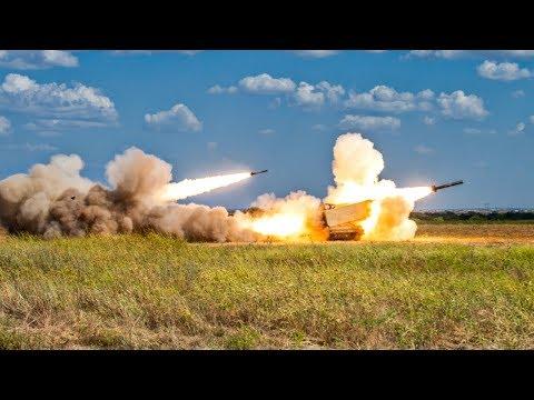 US Army Artillery Firing Tanks & Multiple Launch Rocket System | MFA