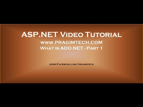 What is ADO.NET - Part 1
