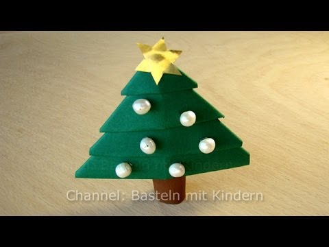 basteln f r weihnachten weihnachtsbaum basteln mit papier weihnachtsdekoration youtube. Black Bedroom Furniture Sets. Home Design Ideas