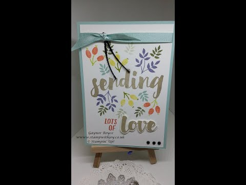 Sending Lots of Love card Stampin' Up!