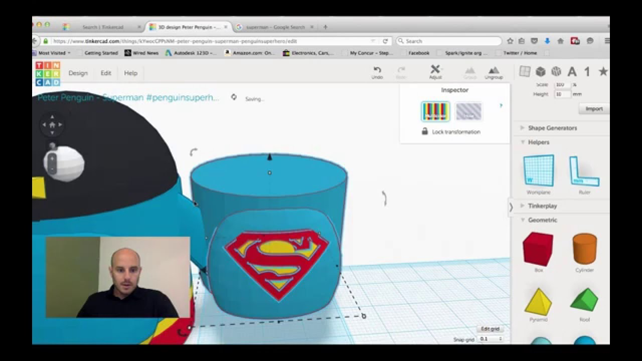 Tinkercad Session Super Peter Penguin Part 2 Youtube