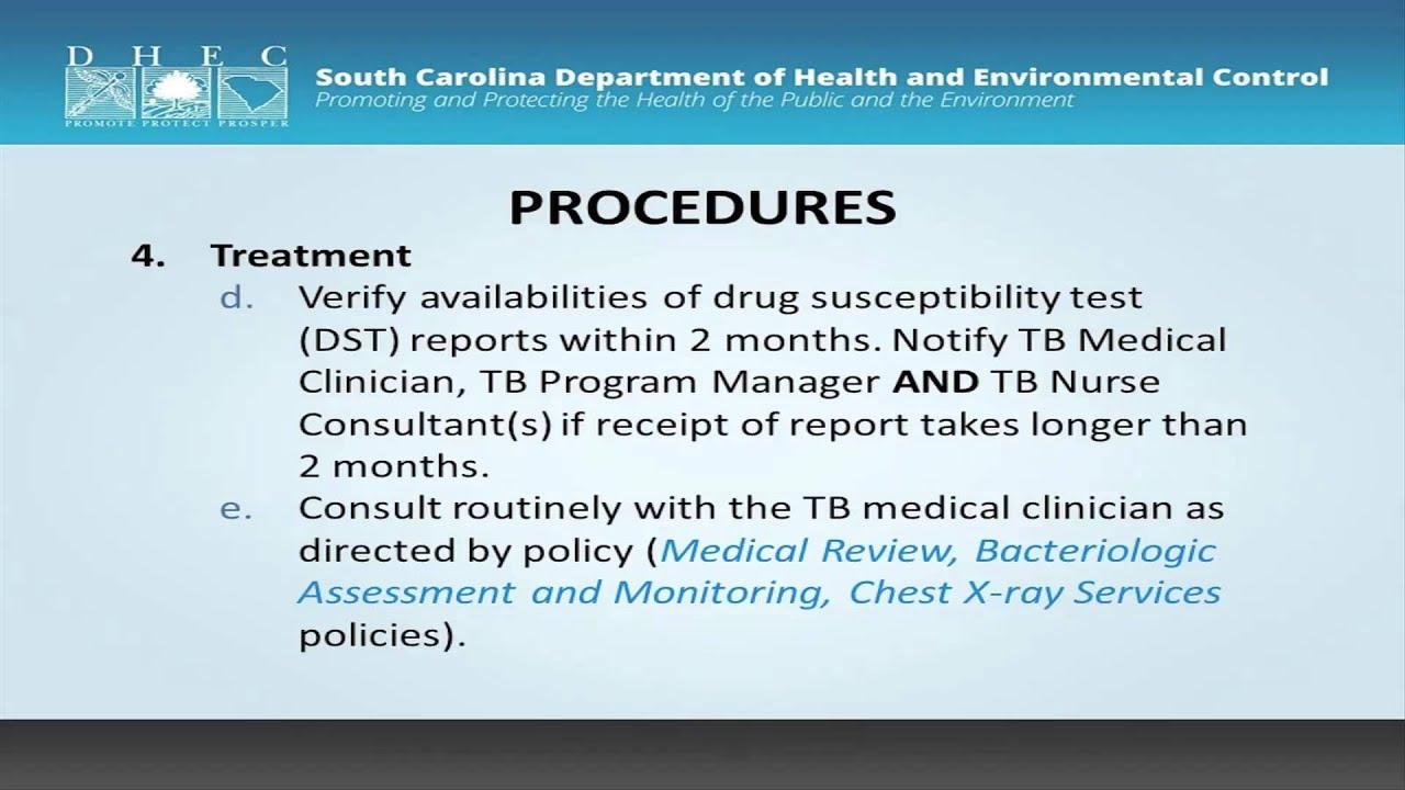nursing management of tuberculosis