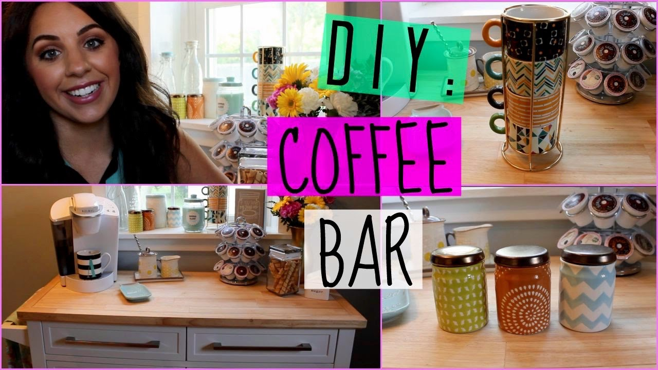 DIY: COFFEE BAR FOR YOUR HOME! - YouTube