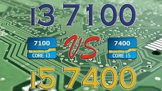 i3 7100 vs i5 7400 benchmarks gaming tests review and comparison kaby lake vs kaby lake