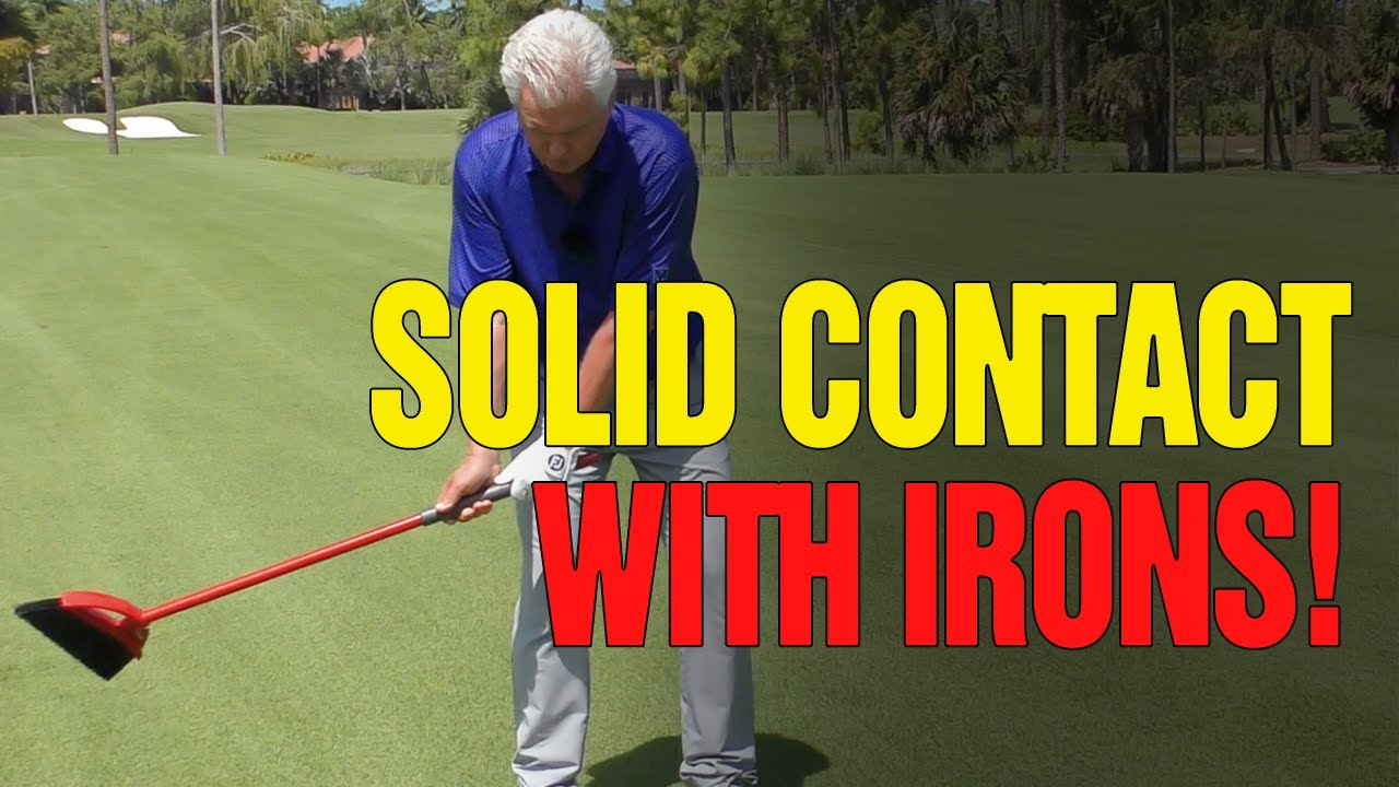 [COMPRESS THE BALL] - Golf Drills For Solid Contact Iron Shots (BROOM DRILL?)