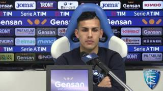 Leandro Paredes in conferenza stampa