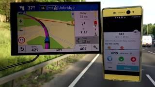 Garmin 61 vs Waze Sat nav Accident, Traffic, Breakdown information