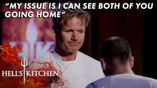 The Blue Team Eliminate JP | Hell's Kitchen