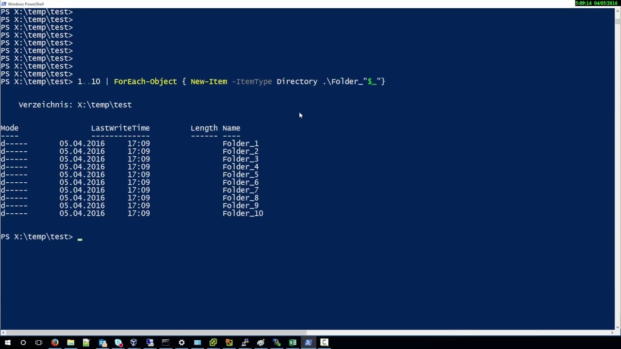 How To Create multiple Folder with Powershell