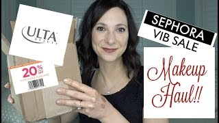 Sephora VIB Fall 2018 Makeup Haul | Ulta 20% off Coupon Makeup Haul!