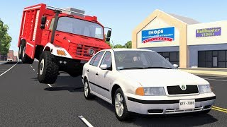 High Speed Traffic Crashes #32 - BeamNG Drive | CrashBoomPunk