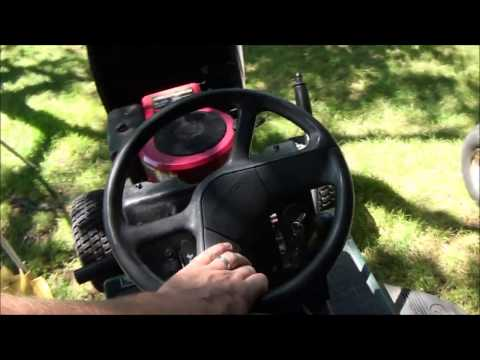 HOW TO FIX STEERING problems, STRiPPED STEERING GEARS. CRAFTSMAN Riding Lawnmower