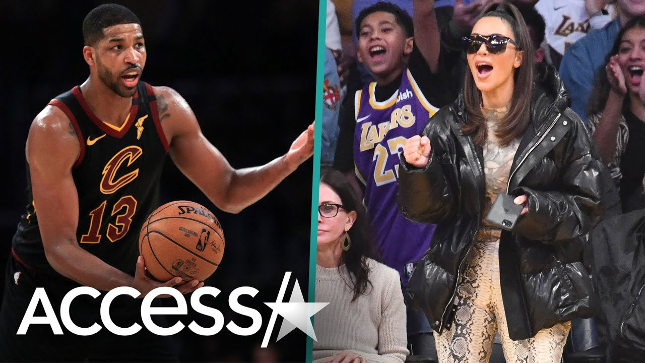 Kim Kardashian West Allegedly Caught Booing Tristan Thompson While Sitting Courtside With Kanye