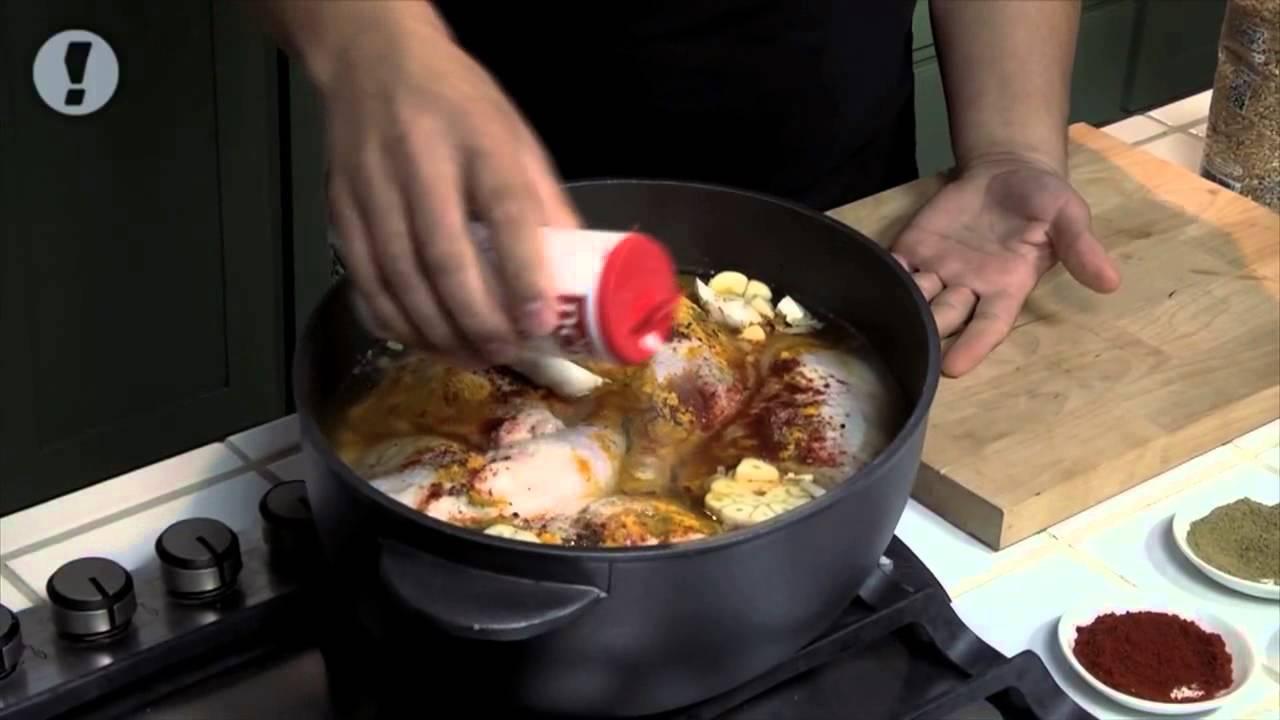 חמין עוף תירס וחיטה חריפה של השף יוסי שטרית