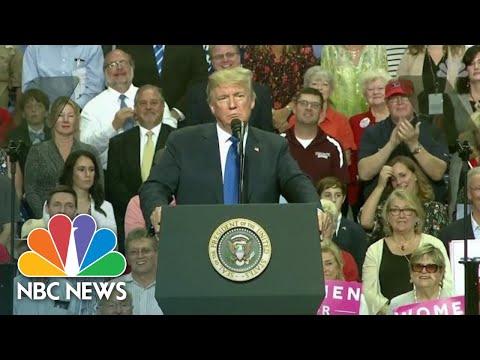 President Donald Trump Mocks Sexual Assault Allegations Against Brett Kavanaugh   NBC News