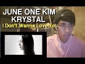 Images June One Kim X Krystal - I Don`t Wanna Love You REACTION! (Very Interesting!)
