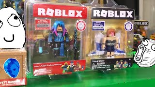 ROBLOX TOYS!!! BLUE LAZER PARKOUR RUNNER AND CELEBRITY SERIES HANG GLIDER UNBOXING