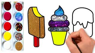 Ice Cream Coloring Pages & Drawing For Children | Kids Coloring pages |