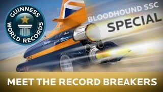 Bloodhound SSC - Meet The Record Breakers - Guinness World Records