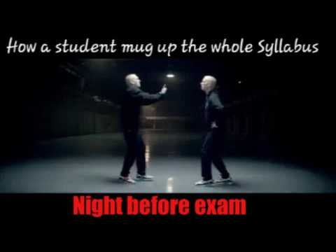 How a student studies night before exam | Rap god version