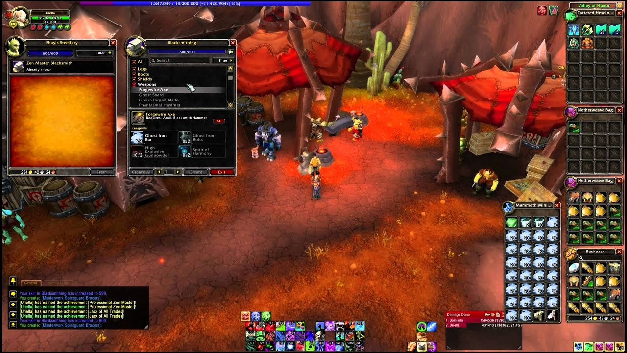 mists of pandaria blacksmithing leveling guide 525 600 youtube rh youtube com 1-110 Leveling Guide WoW Vanilla WoW Leveling Guide