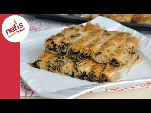 Ispanaklı Börek Tarifi - El Açması Çıtır Börek Yapımı