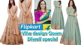 Flipkart partywear gown haul Flipkart Amazon partywear anarkali dresses haul online shopping revi