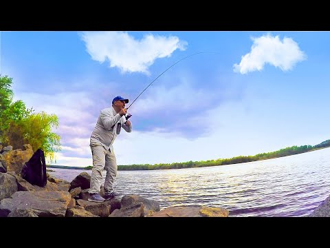 Рыбалка. КРУПНЯК на спиннинг с берега!!!