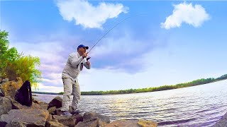 Рыбалка КРУПНЯК на спиннинг с берега