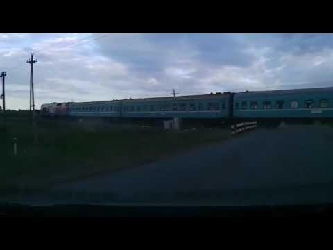 ДТП на железнодорожном переезде в Костанайской области