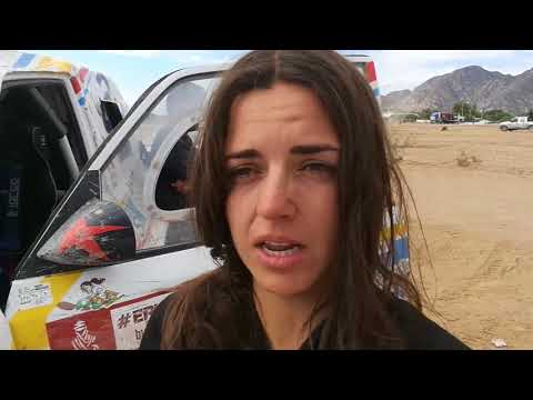 Dakar 2018 - Stage 12 - ITW Cristina Gutierrez bivacco Chilecito