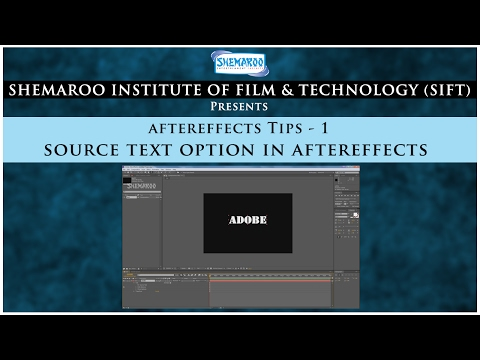 AE Tip 1 Source Text Option in AFX