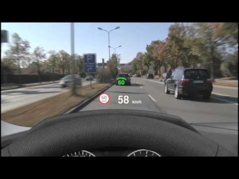 BMW: Vollfarbiges Head Up Display in Aktion