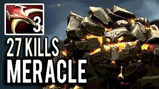 600+ Damage Killer Tiny with 27 Kills by Meracle- 8k MMR 7.04 Meta Dota 2