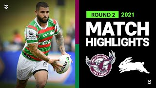Sea Eagles v Rabbitohs Match Highlights   Round 2 2021   Telstra Premiership   NRL
