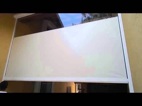 Tende Veranda Cristal : Tenda con guida zip telo pvc cristal motorizzata e radiocomandata