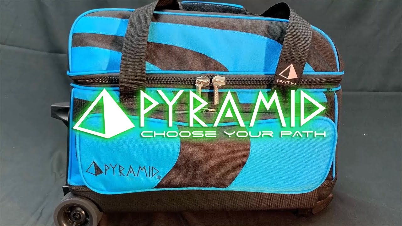 Pyramid Path Deluxe Double Roller Bowling Bag Lime Green