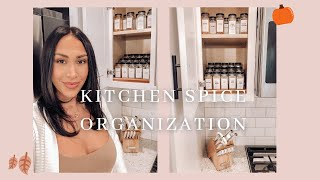 KITCHEN SPICE ORGANIZATION + MAKEOVER!