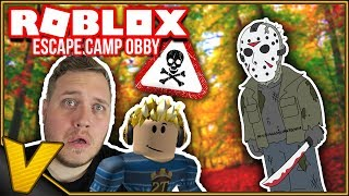 WE WILL BE CHASED by a MURDERER! 😲:: Escape Camp Roblox Obby-Danish